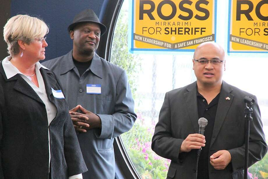 Edwin Palma who resigned from the Sheriff's department  after being charged with misconduct, is now stumping for Sheriff candidate Ross Mirkarimi. Photo: David Elliott Lewis; Ph.D., Special To The Chronicle