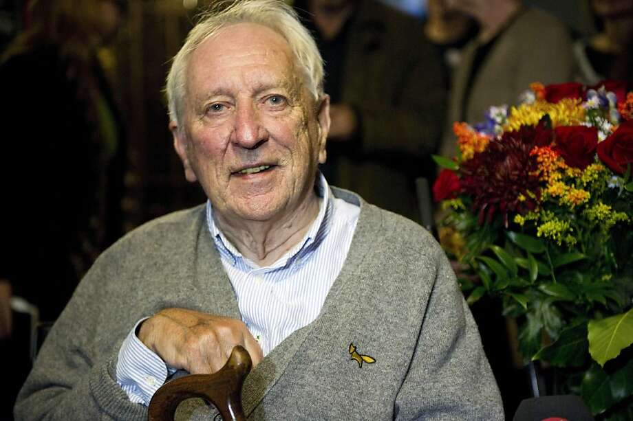 Swedish poet and author Tomas Transtroemer smiles during a press conference in his home after he was awarded the 2011 Nobel Prize in literature, at their home in Stockholm, Sweden, Thursday, Oct. 6, 2011. The 2011 Nobel Prize in literature was awarded on Thursday to Tomas Transtromer of Sweden, whose surrealistic works about the mysteries of the human mind won him wide recognition as the most influential Scandinavian poet of recent decades. (AP Photo/Scanpix, Fredrik Sandberg) SWEDEN OUT Photo: Fredrik Sandberg, AP