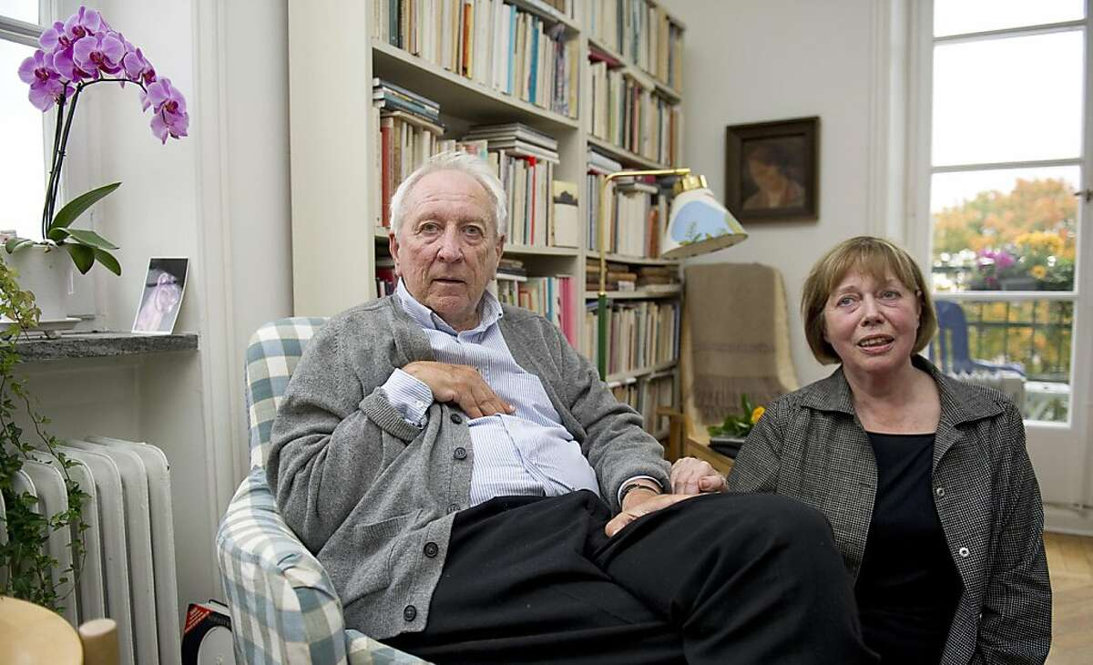 Swedish poet and author Tomas Transtroemer, left, and his wife Monica pose for a photograph after he was awarded the 2011 Nobel Prize in literature, at their home in Stockholm, Sweden, Thursday, Oct. 6, 2011. The 2011 Nobel Prize in literature was awarded on Thursday to Tomas Transtromer of Sweden, whose surrealistic works about the mysteries of the human mind won him wide recognition as the most influential Scandinavian poet of recent decades. (AP Photo/Scanpix, Maja Suslin) SWEDEN OUT