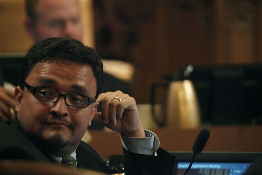 Supervisor David Campos listens to a speaker during the San Francisco Board of Supervisors meeting at City Hall in San Francisco, Calif. on Tuesday May 4, 2010. Photo: Lea Suzuki, The Chronicle