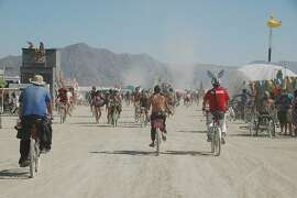 Traffic at Burning Man 2011.