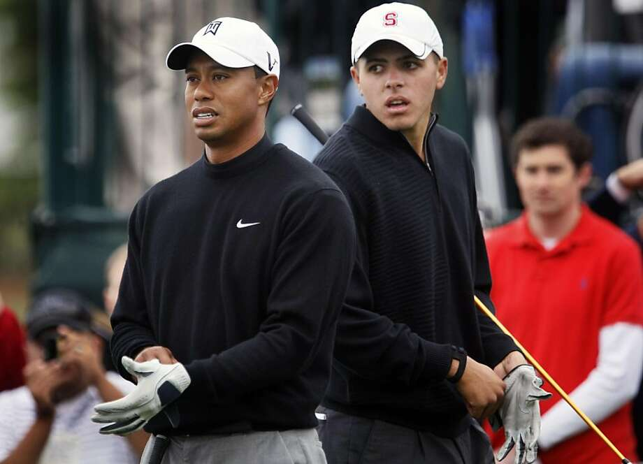 Practice rounds at the US Open continued Tuesday June 15, 2010 at Pebble Beach Gold Links with Tiger Woods, and his Amateur playing partner and fellow Stanford graduate Joseph Bramlett prepare to tee off on the 9th hole.     Ran on: 06-16-2010 Tiger Woods and amateur playing partner Joseph Bramlett, both former Stanford golfers, wait to tee off on the ninth hole during a practice round. Ran on: 06-16-2010 Tiger Woods and amateur playing partner Joseph Bramlett, both former Stanford golfers, wait to tee off on the ninth hole during a practice round.  Ran on: 12-01-2010 Joseph Bramlett, and fellow Stanford alumnus Tiger Woods, at a practice round at the U.S. Open at Pebble Beach in June. Ran on: 01-09-2011 Joseph Bramlett Ran on: 01-09-2011 Joseph Bramlett Ran on: 01-09-2011 Joseph Bramlett Photo: Lance Iversen, The Chronicle