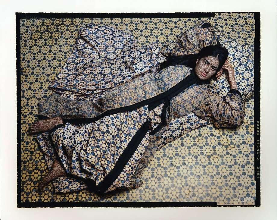 """""""Harem 10"""" (2009), by Lalla Essaydi Photo: Jenkins Johnson Gallery"""