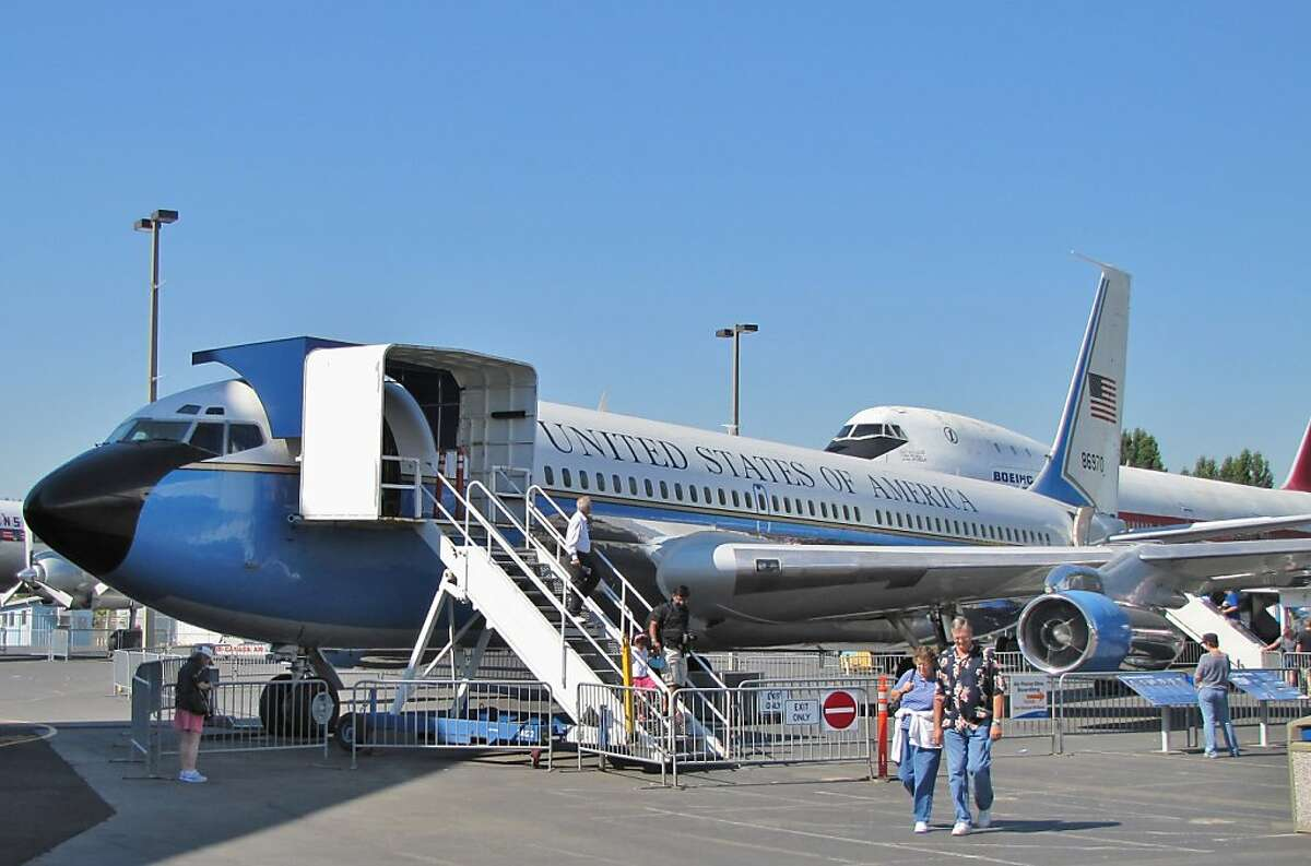 The Air Force One on display at the Museum of Flight is the first jet presidential plane. It was used by presidents Eisenhower and Kennedy during the early part of his term.