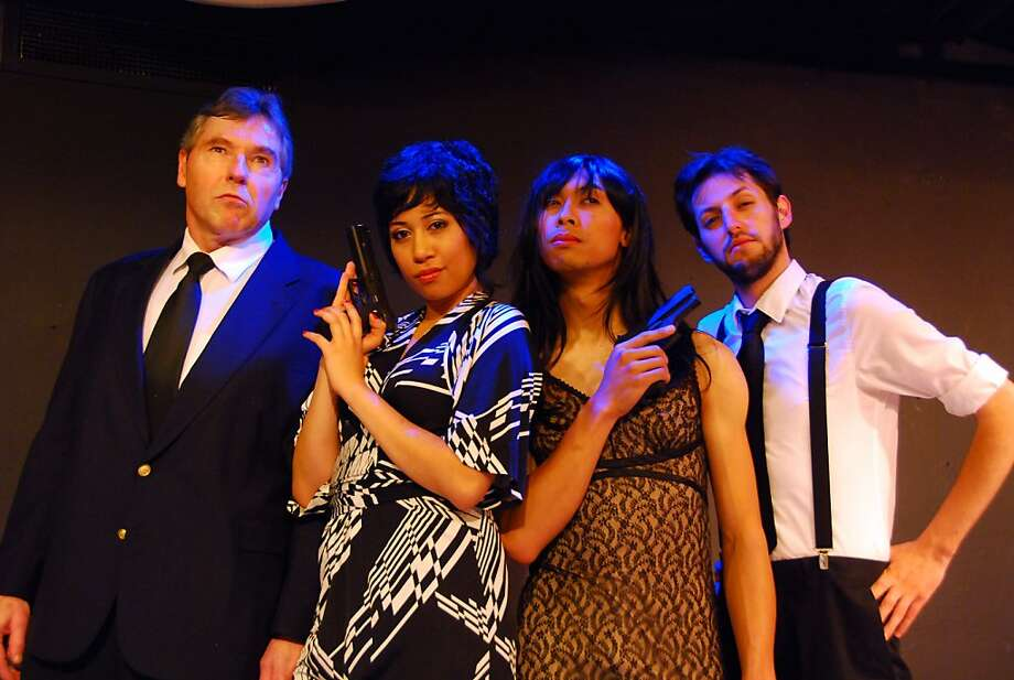 """From L to R: Keith Jefferds as """"Alfredo,"""" Gabrielle Patacsil as """"Roma,"""" Wesley Cayabyab as """"Snapper, """" and  Christopher Morrell as """"Grigio"""" in """"Arrivederci Roma."""" Photo: Colin Hussey"""