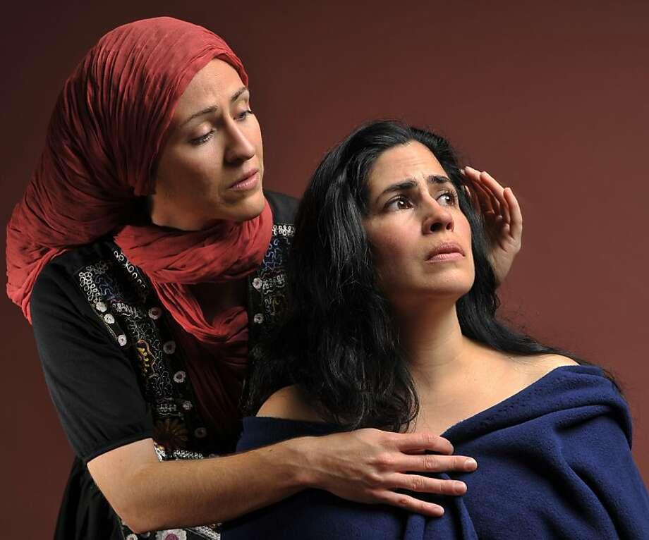 "Sarita Ocon (left) Juliet Tanner in Golden Thread's production of Adriana Sevahn Nichols' ""Night Over Erzinga"" Photo: DavidAllenStudio"