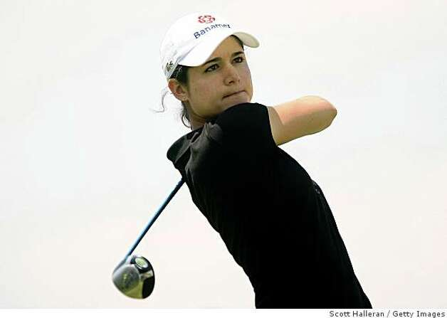 HUIXQUILUCAN, MEXICO - MARCH 15:  Lorena Ochoa of Mexico watche her tee shot on the 13th tee during the second round of the MasterCard Classic at Bosque Real Country Club on March 15, 2008 in Huixquilucan, Mexico.  (Photo by Scott Halleran/Getty Images) Photo: Scott Halleran, Getty Images