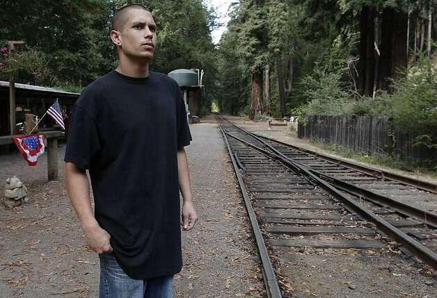 Michael Fernandez who works at the Northspur, Ca. train stop, a tourist area, said he heard the gunshots yesterday in a shootut between the murder suspect Aaaron Bassler and police, as law enforcement today intensified their search for the suspect in an unincorporated area of Mendocino County near Northspur, Ca. on Friday September 30, 2011. Photo: Michael Macor, The Chronicle