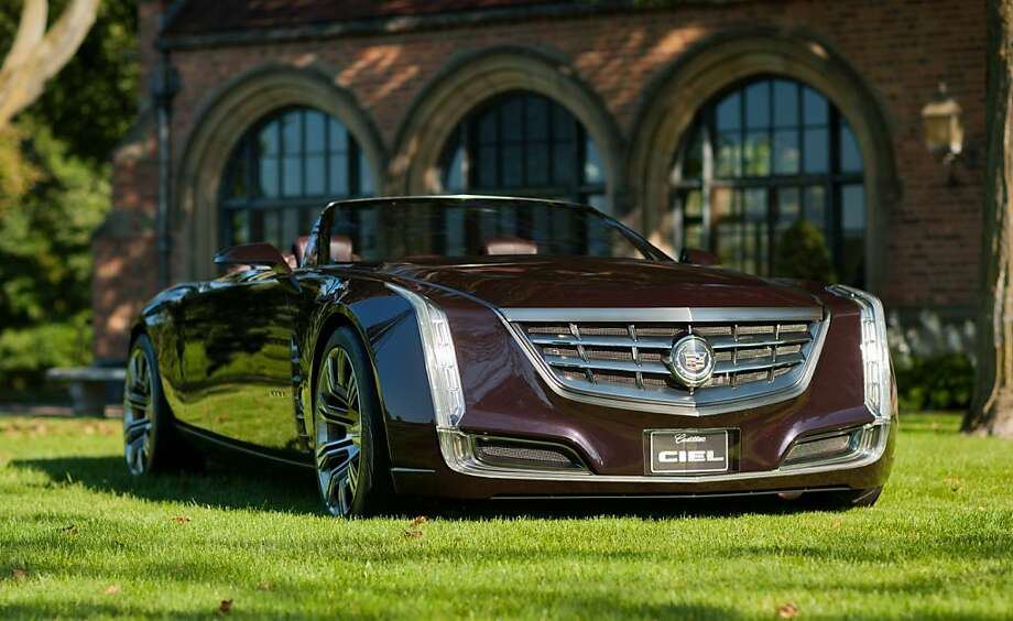 """Cadillac rolls out the Ciel concept, an open-air grand-touring car Monday, August 29, 2011 at Meadow Brook Hall in Rochester, Michigan. The Ciel - pronounced """"C-L,"""" the French translation for sky - is a four-seat convertible powered by a twin-turbocharged version of the 3.6-liter Direct Injection V-6 engine, paired with a hybrid system using lithium-ion battery technology. (Photo by John F. Martin for Cadillac) (08/29/2011) Photo: Photo Courtesy Of Cadillac"""