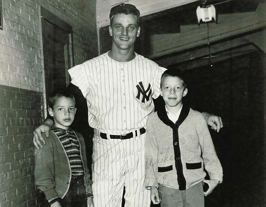 Yankees slugger Roger Maris poses with Glenn (left) and Kevin Kirby hours before his record-breaking moment on Oct. 1, 1961. Photo: Courtesy Sara Kirby