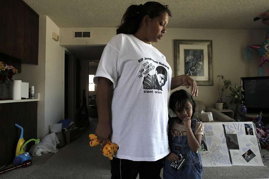 Aysha Haq and her three-year-old daughter, Jasmine Raj, at their South San Francisco, Ca., home on Tuesday September 27, 2011. Her 14-year-old son Joseph Maharaj, was shot and killed near his home on September 18th. Photo: Michael Macor, The Chronicle