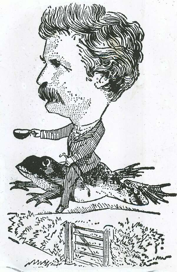Insight02_KOMP.jpg This illustration of Mark Twain's celebrated jumping frog of Calavaras County appeared in the N.Y. Herald Tribune   /San Francisco Chronicle Photo: San Francisco Chronicle