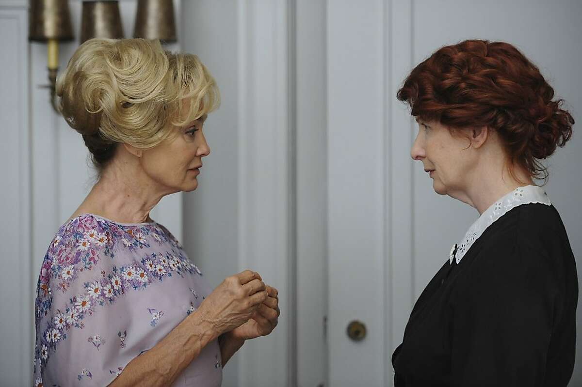 AMERICAN HORROR STORY: L-R: Jessica Lange as Constance and Frances Conroy as Moira in AMERICAN HORROR STORY airing on FX.