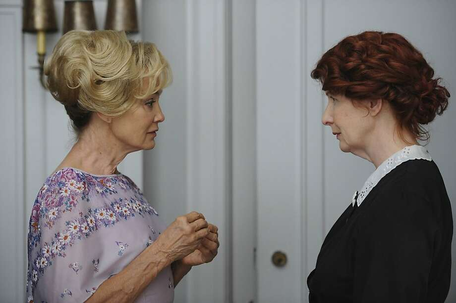AMERICAN HORROR STORY: L-R: Jessica Lange as Constance and Frances Conroy as Moira in AMERICAN HORROR STORY airing on FX. Photo: Robert Zuckerman, FX