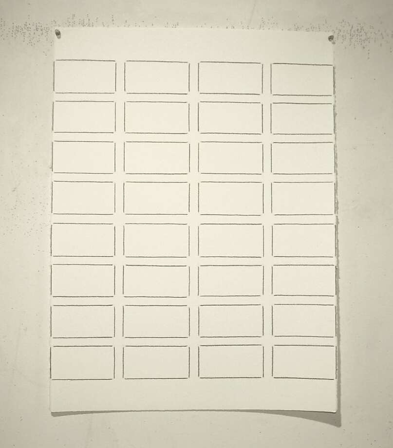 """""""3/8/2011 (II)"""" (2011) graphite on paper by Linda Karshan Photo: Roger Karshan, Cain Schulte Gallery, S.f."""
