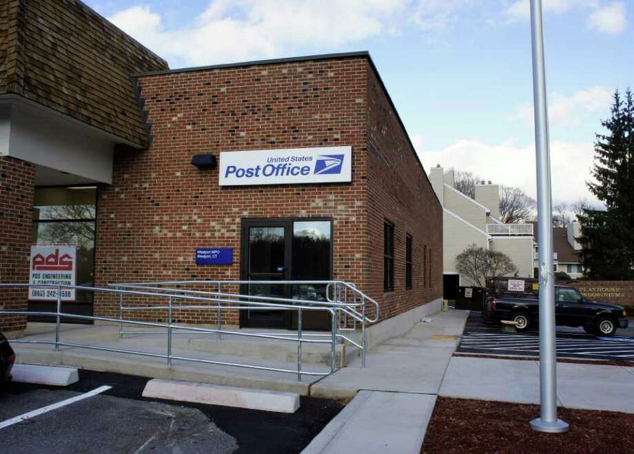 A view of the new post office in the Playhouse Square shopping center, which is set to open in early 2012, according to a U.S. Postal Service spokesperson. Photo: Paul Schott / Westport News