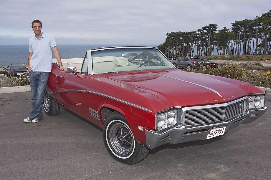 Adam Forest is a Colorado native who now lives in the Cole Valley neighborhood of San Francisco. He is a graduate of Stanford University, UCLA Law School and is an associate at the law firm of Reed Smith LLP. Photos of Adam Forest and his 1968 Buick Skylark Custom Convertible photographed in Land's End parking lot, north Ocean Beach in San Francisco, CA on August 20, 2011 Photo: Stephen Finerty