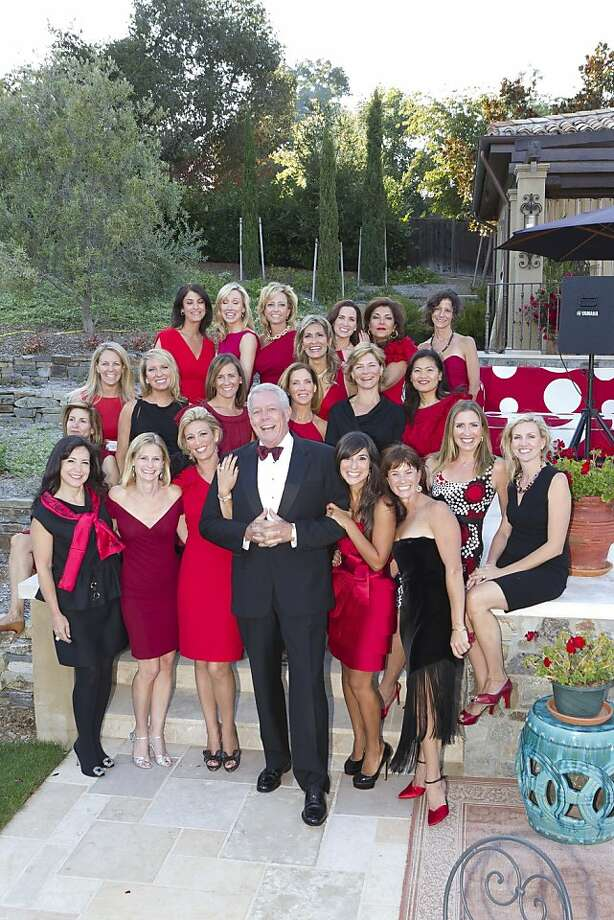 "Actor Rene Russo was celebrity auctioneer at the $300-a-ticket ""Red Party"" fundraiser at a private home in Atherton Sept. 16, 2011 for the WAS Foundation, created by Peninsula resident Cristina Moustirats. Her son died of Wiskott Aldrich Syndrome, an autoimmune disease that occurs in roughly 1 in every 250,000 male births.  The party, attended by 400 women, featured a silent and live auction and was co-hosted by ""Lives of Style,"" a TV show focusing on fashion starring Elizabeth Laurence. Here, early guests pose in the backyard party space. Photo: Drew Altizer, Photo - Drew Altizer/SFWIRE"