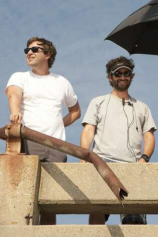 "The Duplass brothers, directors of ""Jeff Who Lives at Home,"" on the set. Photo: Paramount Pictures"