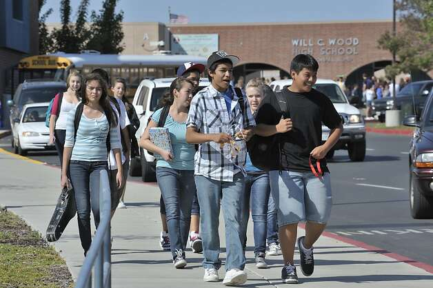"Will C. Wood High School in Vacaville has been the scene of a recent controversy when a teacher admonished a student or students for saying ""bless you"" after another student sneezed. The teacher has claimed students were being intentionally disruptive while some groups outside the school have claimed the admonishments came because of religious connotations of the  words ""bless you"". Photo: David Butow, Special To The Chronicle"