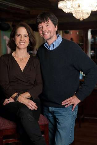"Filmmakers Ken Burns, right, and Lynn Novick talk about their new three-part documentary called ""Prohibition,"" that will air on PBS. (Courtesy of Stephanie Berger/MCT) Photo: Handout, MCT"