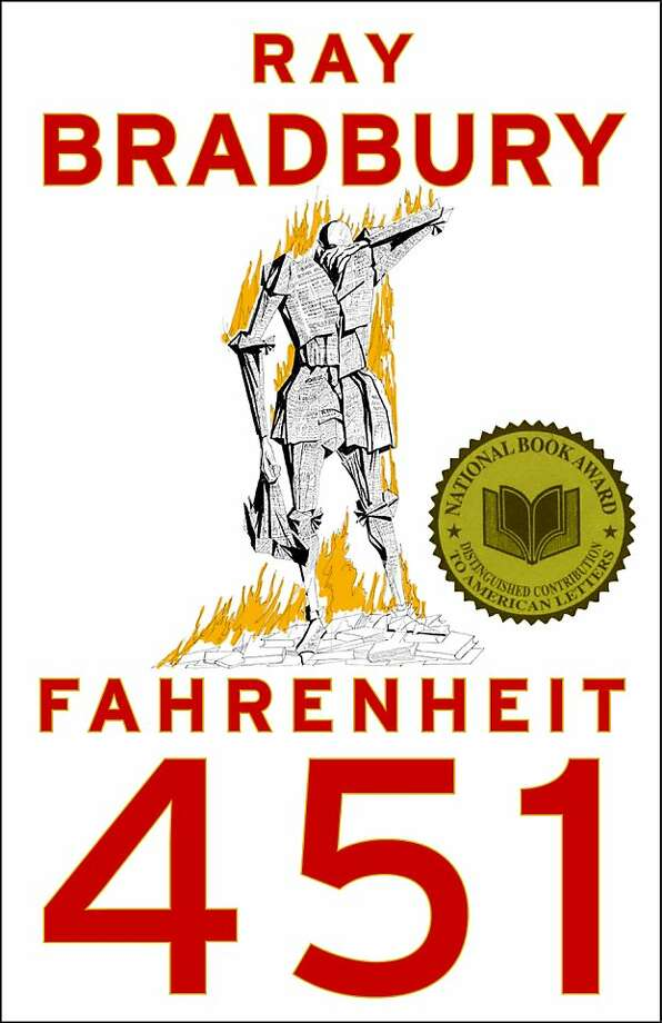 """In this image released by Simon & Schuster, the cover of """"Fahrenheit 451,"""" by Ray Bradbury, is shown. (AP Photo/Simon & Schuster) Photo: AP"""