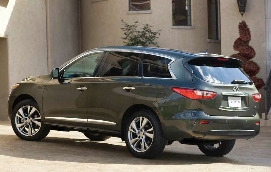 The 2013 Infiniti JX will be the roomiest seven-passenger luxury crossover vehicle on the market, the company says. It will come with either front- or all-wheel drive. COURTESY OF NISSAN NORTH AMERICA INC. Photo: Nissan North America, COURTESY OF NISSAN NORTH AMERICA INC.