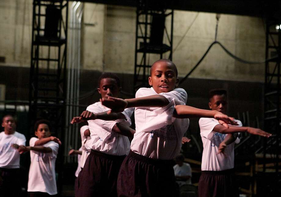 Day 1 of Ailey Camp at Zellerbach Hall on the UCB campus. Students learn and practice the camp dance, a number that will be built on throughout the six week program. Photo: Lara Brucker, SFGate