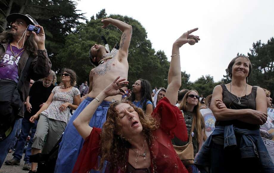 Kathryn Murray Of Santa Cruz Dances To The Music At The Jerry Garcia Day Celebration
