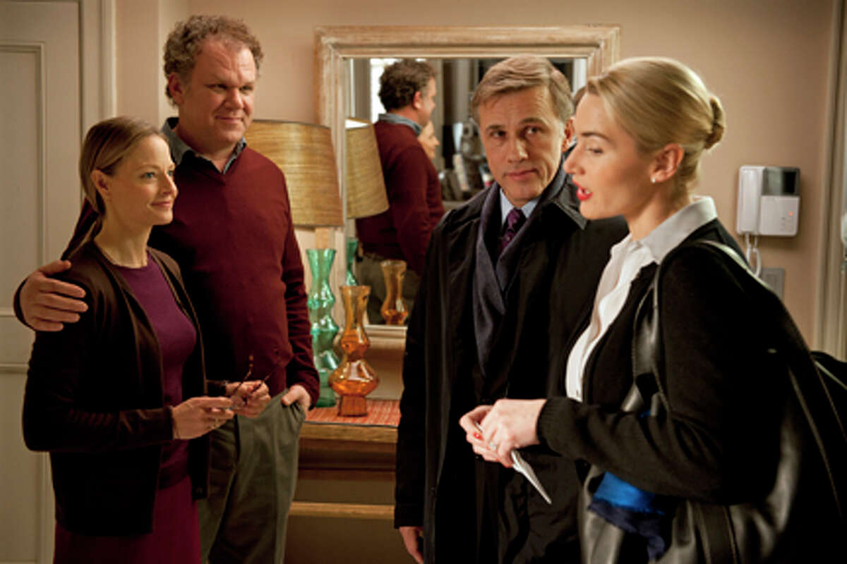 (L-R) Jodie Foster as Penelope, John C. Reilly as Michael, Christoph Waltz as Alan and Kate Winslet as Nancy in