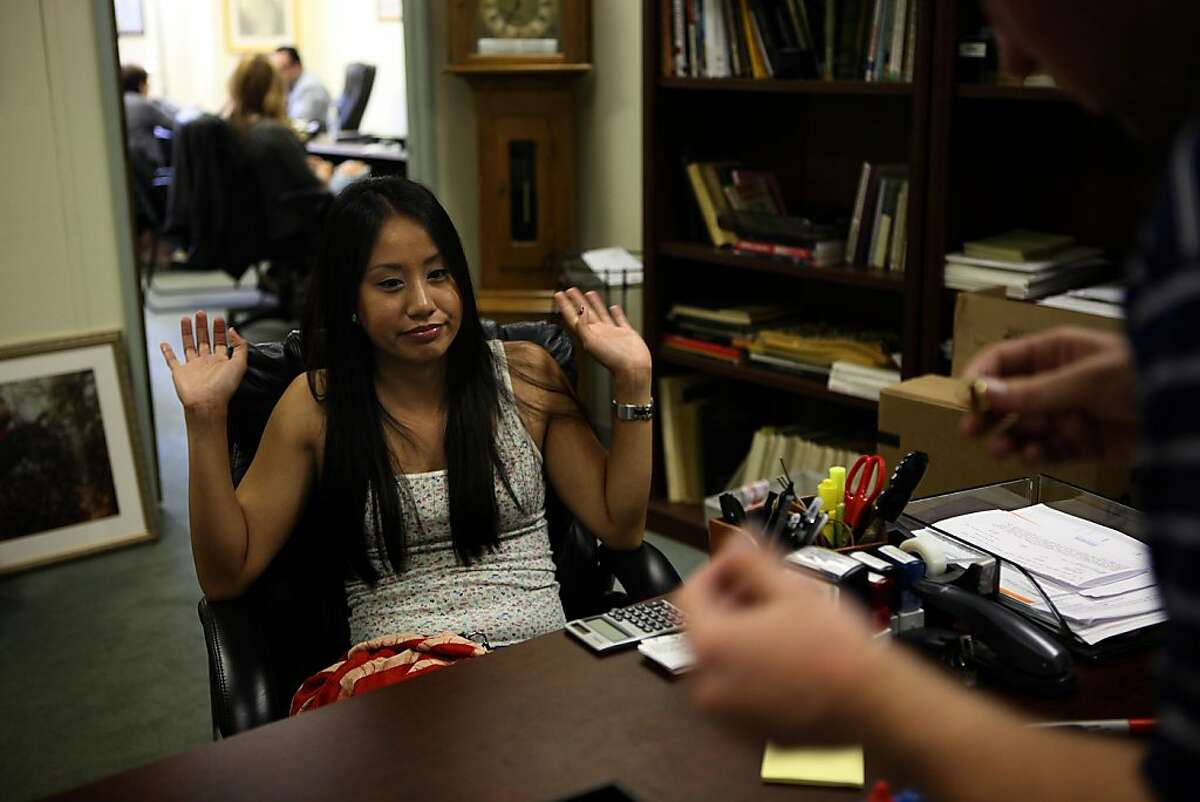 Michelle Dayrit, 27 years old from Fremont, came to Oxbridge House in San Francisco, Calif., to weigh in some gold pieces on Friday, August 26, 2011, and was surprised to find out her gold was worth well over a thousand dollars rather than the hundred dollars she thought it was worth. Gold prices are now twice what they were two years ago.