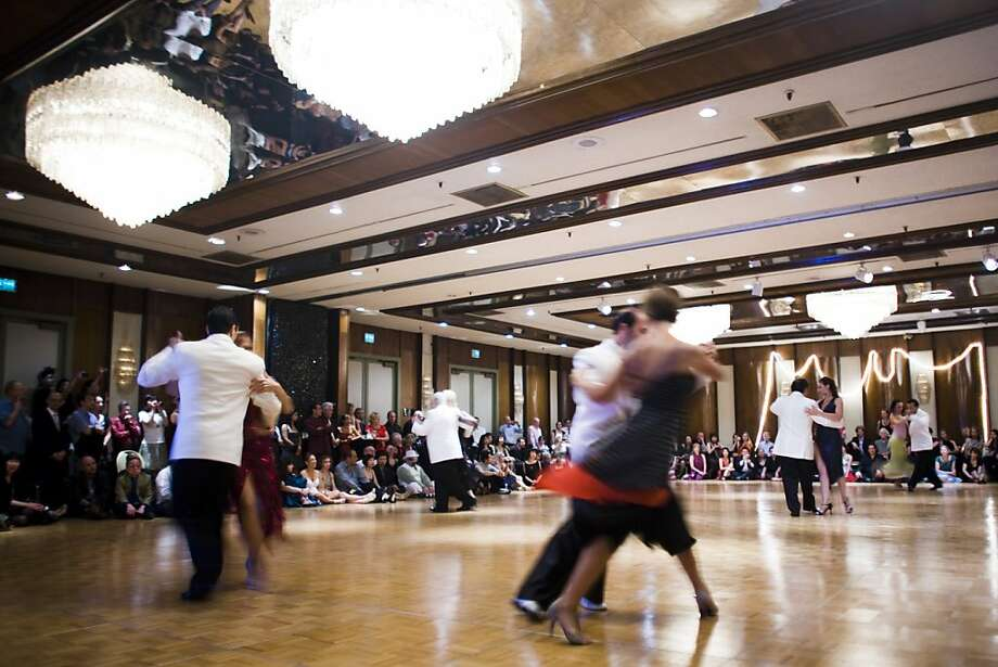 """World class tango performers entertain the crowd at a """"milonga"""" (tango dance party) in Millbrae, Calif., on Saturday, July 9, 2011. Photo: Brian L. Frank, Special To The Chronicle"""