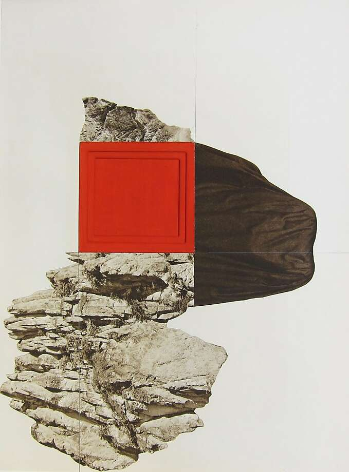 """Untitled"" (2011) collage and mixed media on paper by Leigh Wells   14.75"" x 11"" Photo: Leigh Wells, Guerrero Gallery, S.f."