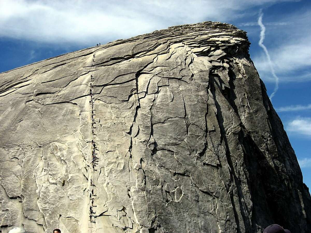 . Ran on: 08-24-2011 Half Dome rises nearly 5,000 feet above Yosemite Valley, and this is the second death of a climber on the peak within a month.