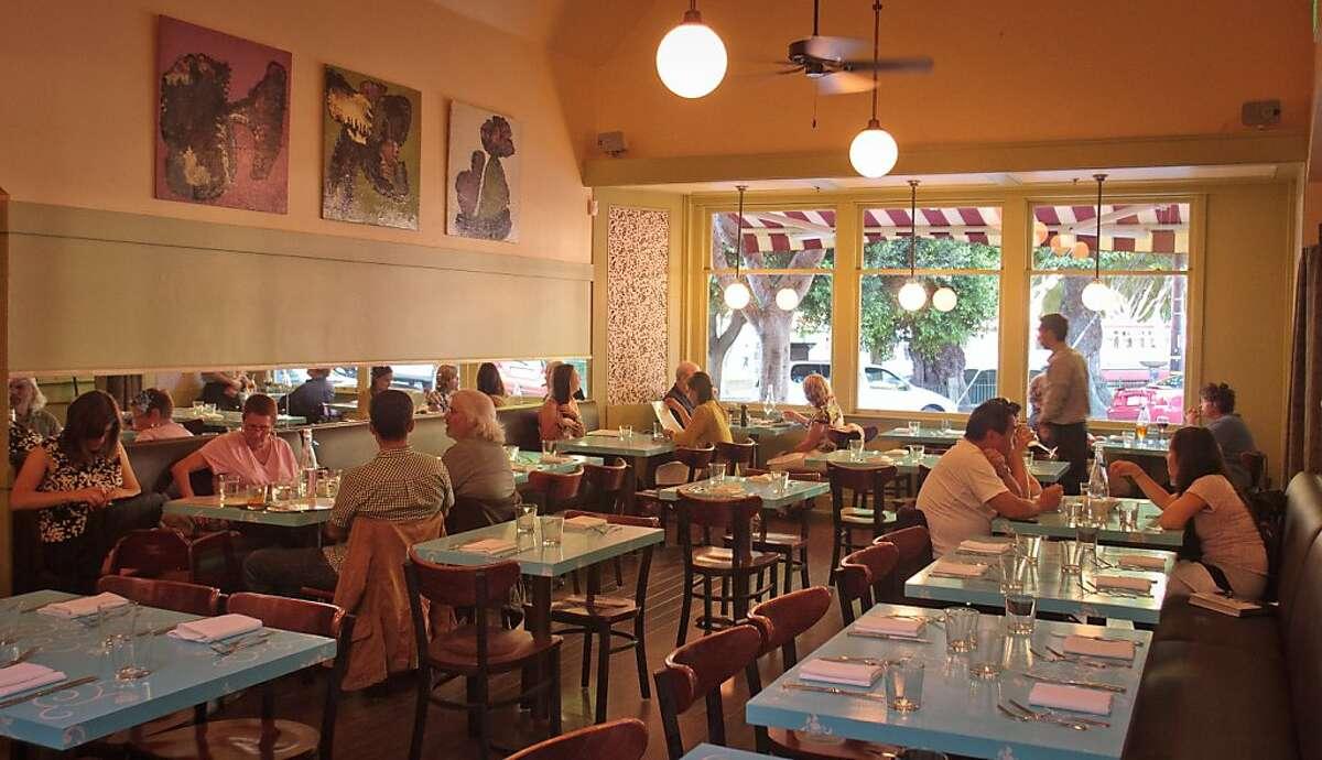 Diners enjoy dinner at Bottle Cap Restaurant in San Francisco, Calif., on August 23rd, 2011.
