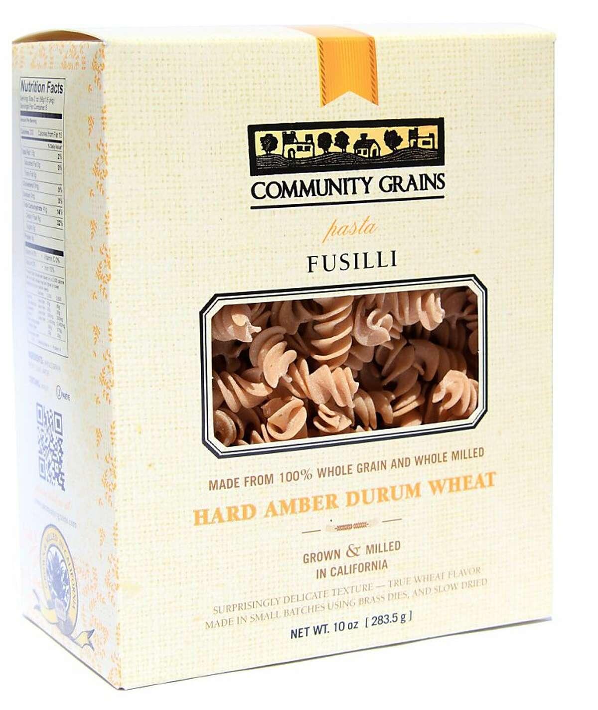 Community Grains whole grain pastas are available as pappardelle, linguine, fusilli and conchigli.