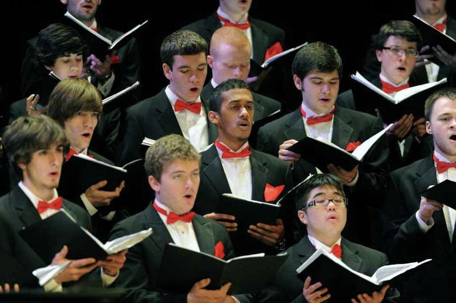 "The Fairfield University Glee Club will perform with the Fairfield University Chamber Singers and the Festival Brass and Jazz Ensemble in âÄúCanticle of the Animals: A Christmas Concert"" Friday, Dec. 2, and Saturday, Dec. 3, at the Quick Center. Photo: Contributed Photo"