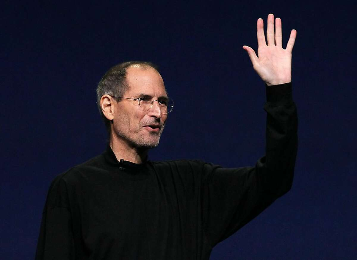 SAN FRANCISCO, CA - FILE: Apple CEO Steve Jobs waves to the crowd after speaking during an Apple Special event to unveil the new iPad 2 at the Yerba Buena Center for the Arts on March 2, 2011 in San Francisco, California. Apple briefly overtook Exxon Mobil to become the world's most valuable company on August 9, 2011 after shares rose 4.7 percent to a high of $369.89, giving Apple a value of $342.9 billion. (Photo by Justin Sullivan/Getty Images)