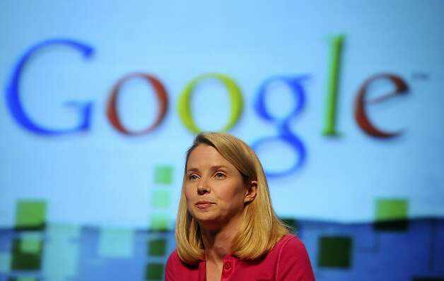 Marissa Mayer, vice president for search products and user experience at Google Inc., speaks at the TechCrunch Disrupt conference in San Francisco, California, U.S., on Wednesday, Sept. 29, 2010.  Photo: Noah Berger, Bloomberg
