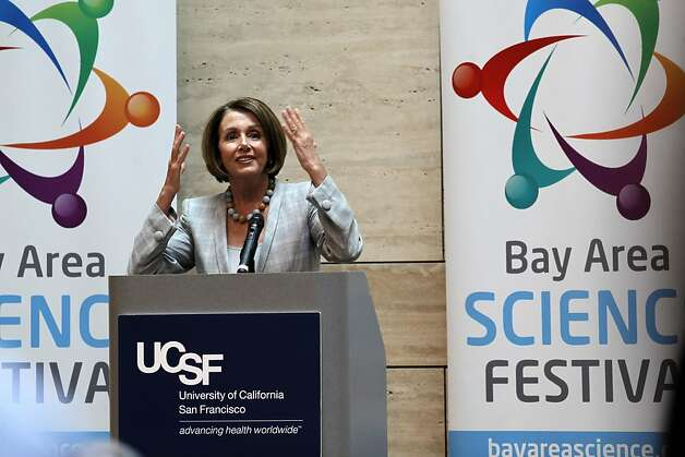 Democratic Leader, Nancy Pelosi,  on Tuesday August 16, 2011, in San Francisco, Ca. joined local officials to promote the upcoming Bay Area Science Festival. Photo: Michael Macor, The Chronicle