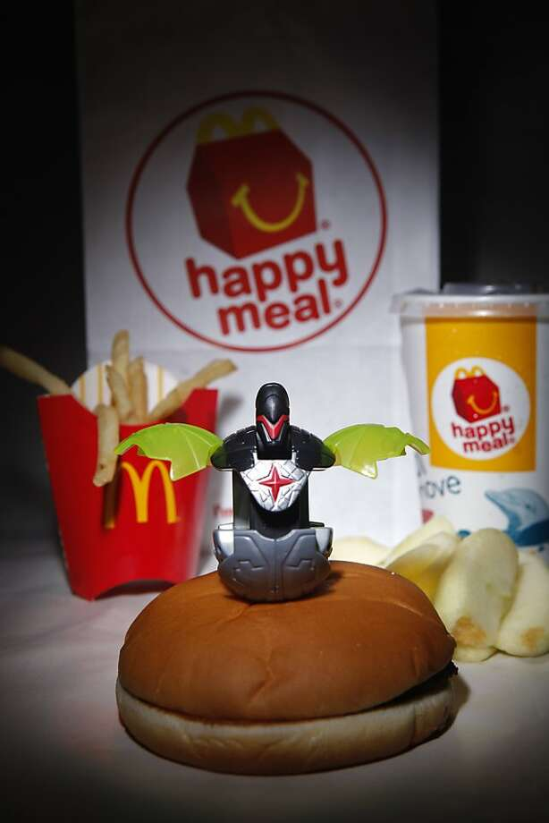 A McDonald's Happy Meal, purchased  on Tuesday, Nov. 29, 2011 in San Francisco, Calif., came with a free toy Photo: Russell Yip, The Chronicle