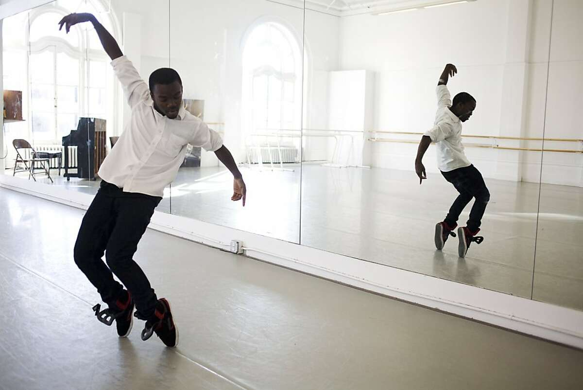 Darius Drooh, 19, won the Beach Blanket Babylon dance scholarship for $10,000. He graduated from high school -- the Ruth Asawa S.F. School of the Arts -- where he studied dance. The high school's dance students take their dance classes at the Alonzo King Lines Dance Center.