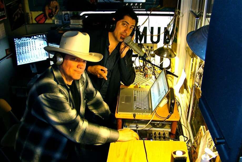Quarterman Jack (Christopher Ford) and John Hell of Radio Valencia. Photo: Valencia Radio