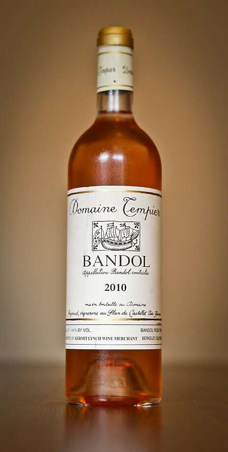 A bottle of Domaine Tempier Bandol Ros served at Chez Panisse is seen in on Thursday, Aug. 18, 2011 in Berkeley, Calif. Photo: Russell Yip, The Chronicle