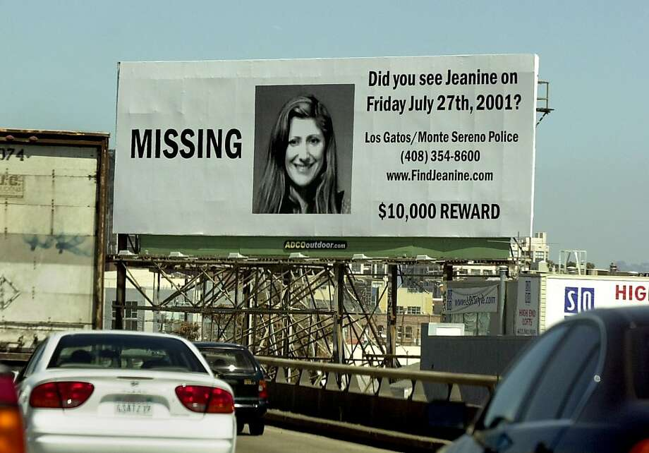 HARMS1-C-21AUG01-MT-DB Billboard for missing woman, Jeanine Harms, is seen northbound on Hwy. 101 in downtown San Francisco. Chronicle Photo by Darryl Bush Ran on: 01-17-2011 A billboard for Jeanine Sanchez Harms of Los Gatos, who went missing  in 2001, was posted on Highway 101 in downtown San Francisco that year. Ran on: 01-17-2011 A billboard for Jeanine Sanchez Harms of Los Gatos, who went missing  in 2001, was posted on Highway 101 in downtown San Francisco that year. Photo: Darryl Bush, The Chronicle