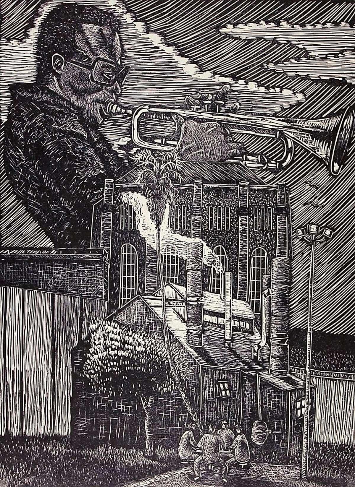 Ronnie Goodman's artwork done while a prisoner at San Quentin.