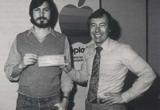 Steve Jobs receives an infusion of cash from venture capitalists Don Valentine and Mike Markkula, pictured here, to start Apple in the 1970's. Photo: Courtesy Of Zeitgeist Films, Something Ventured