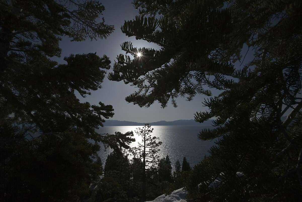 Sun rises on Lake Tahoe looking east from Eagle Rock on May 4 2011 on the west shore of Lake Tahoe, Calif. Photograph by David Paul Morris/Special to the Chronicle