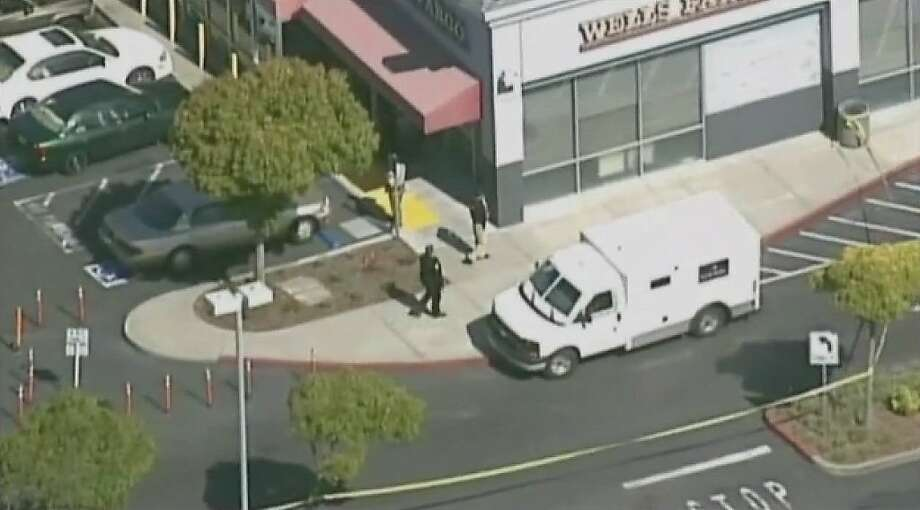 A Pinole police officer and a security guard were injured during a bank robbery in Pinole this morning and, according to initial reports, the alleged robber was killed, police said. Photo: Cbs5