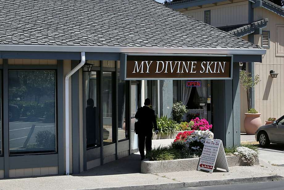 My Divine Skin on Thursday May 12, 2011,  where a Concord  private detective and a Contra Costa County Sheriff are suspected of running a brothel that fronted as a massage parlor at a strip mall at 670 Gregory Lane in Pleasant Hill, Ca. .  Ran on: 05-13-2011 Norman Wielsch and Christopher Butler allegedly ran a brothel out of this massage parlor in Pleasant Hill. Ran on: 05-13-2011 Norman Wielsch and Christopher Butler allegedly ran a brothel out of this massage parlor in Pleasant Hill. Photo: Michael Macor, The Chronicle